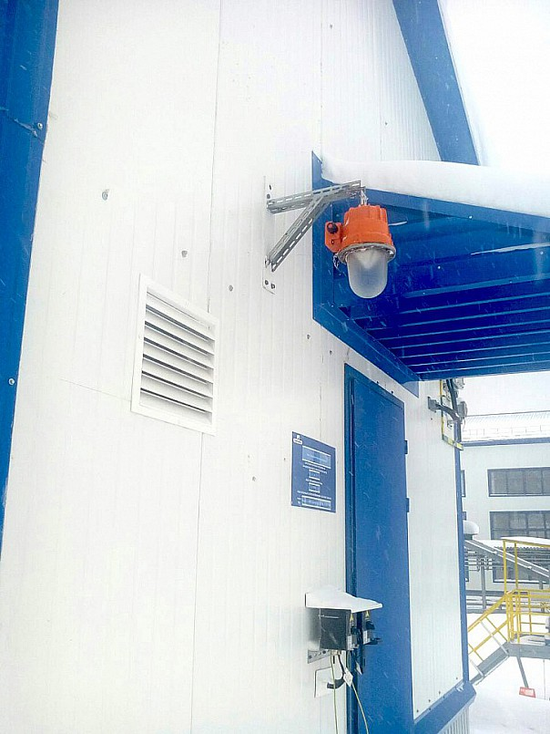Освещение объекта нефтегазодобычи светодиодными светильниками NT-SPARK 45